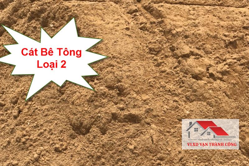 Cát bê tông loại 2 có độ lớn hạt từ 1.5 mm đến 1.8 mm