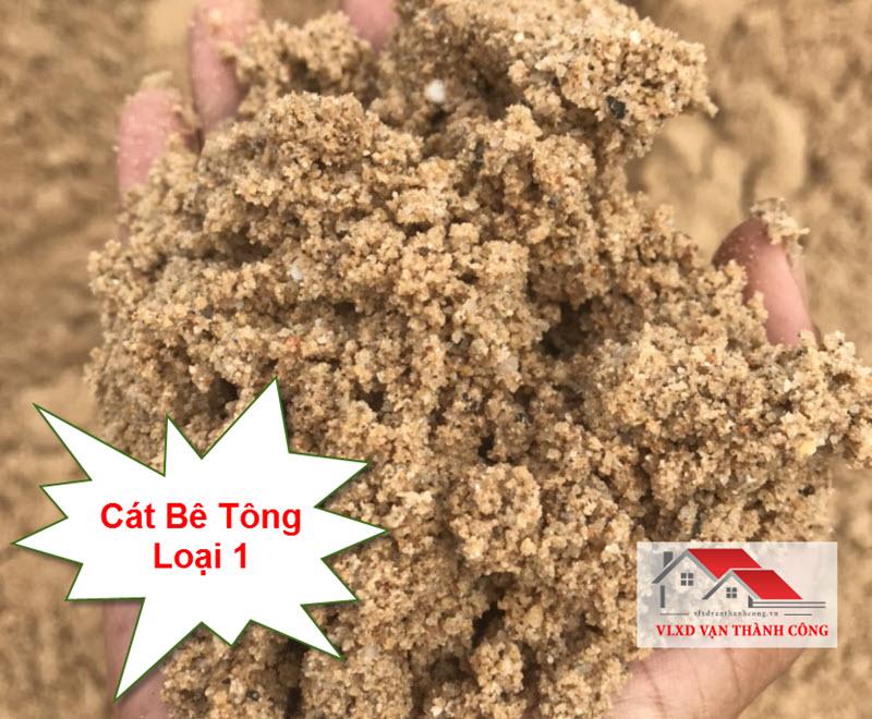 Cát đổ bê tông loại 1 có độ lớn trên 1.8 mm