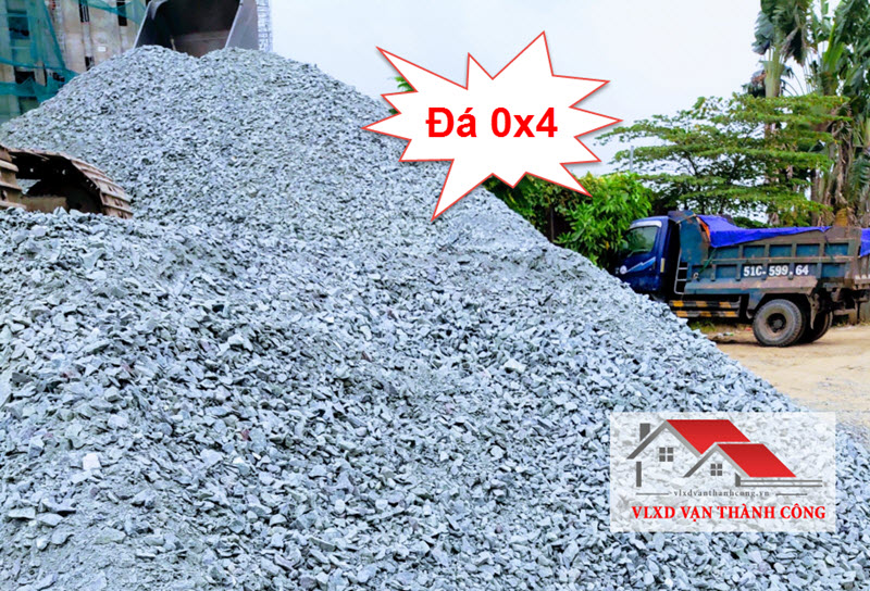 Đá 0x4 là loại đá làm đường, san nền được sử dụng nhiều nhất hiện nay