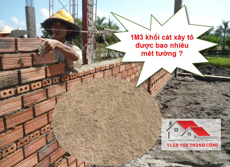 Định mức cát xây 1m2 tường gạch