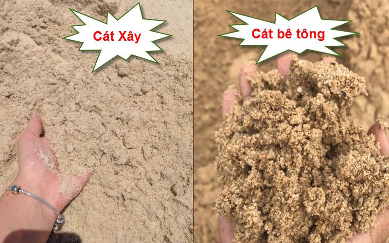 Phân biệt cát đổ bê tông và cát xây