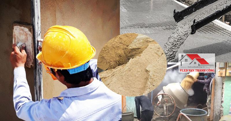 Cát vàng được sử dụng phổ biến đổ bê tông hoặc xây tô