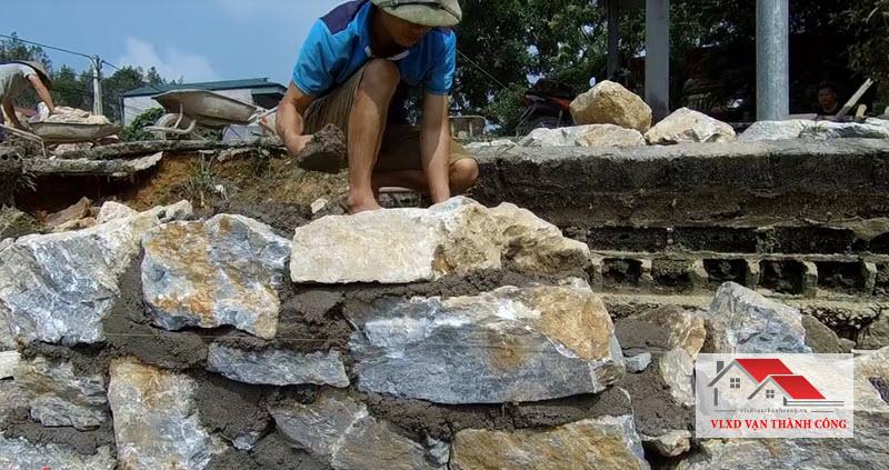 Kỹ thuật xây kè đá hộc